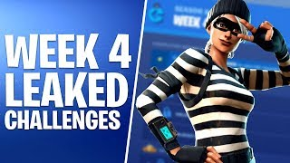 Fortnite Week 4 Challenges | Cheat Sheet | Season 8
