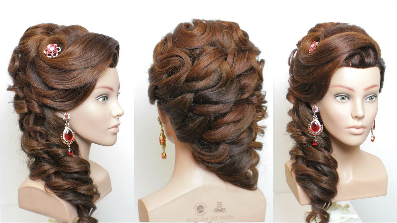 new bridal hairstyle for long hair step by step