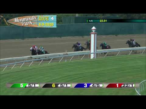 video thumbnail for MONMOUTH PARK 08-09-20 RACE 4