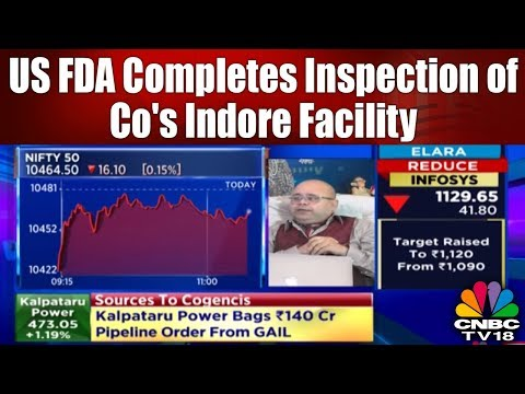 CIPLA Completes US FDA Inspection of Co's Indore Facility | Trading Hour | CNBC TV18
