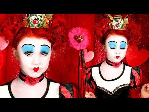 Alice in Wonderland: Red Queen of Hearts Makeup and Costume