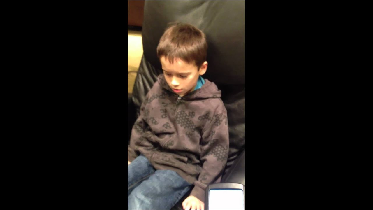 Funny Kid In Massage Chair!!
