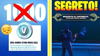 NIENT 1000 VBUCKS FREE :( - SECRET IN THE CONTINENTAL HOTEL OF FORTNITE!