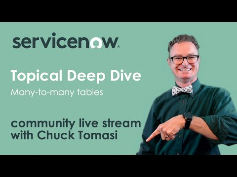 NOWCommunity Live Stream - Topical Deep Dive - Many-to-Many Tables