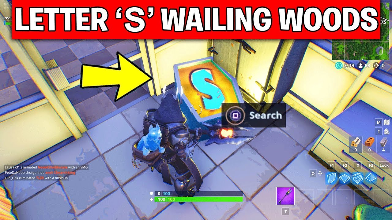 Search The Letter S In Wailing Woods Location Week 4 Challenge