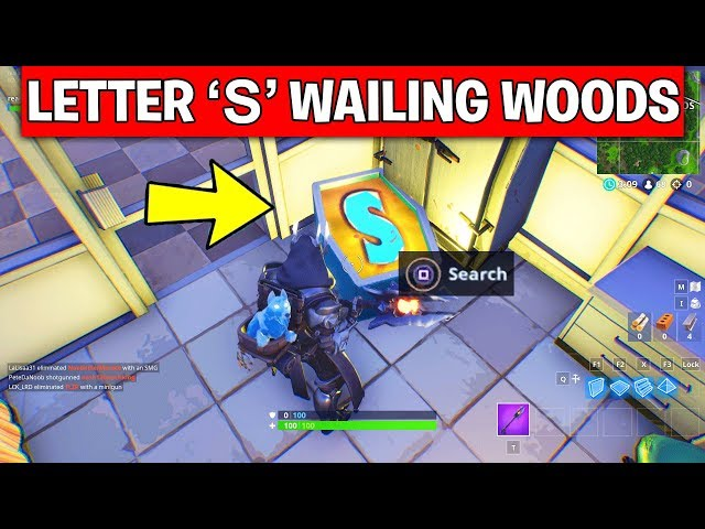 fortnite noms letters search o s m n letter map locations week 4 challenge in season 7 daily star - noms challenge fortnite