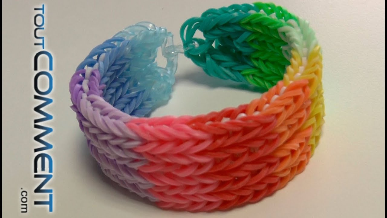Comment Faire Un Bracelet Elastique Rainbow Loom A 4 Rangs