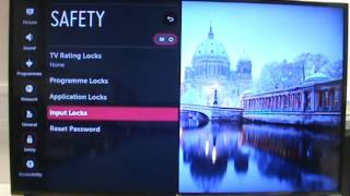 LG TV WebOS Safety Settings and PIN Master Reset