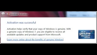 Windows7 ultimate 64 bit and 32 bit genuine product key activation error fix