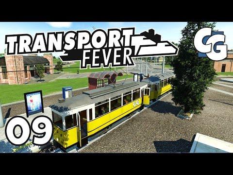 Transport Fever - Ep. 9 - Tramification and Passenger Rail Extension - Transport Fever Gameplay