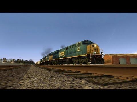 [HD] TrainzWatching: CSX Trains Meet At Auburndale (Trainz Simulator 12)  