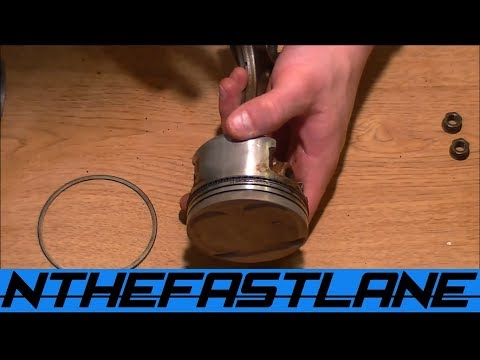 "Installing Piston Rings The Easy Way ""NO TOOLS""!"