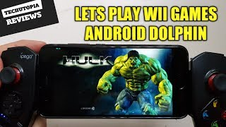The Incredible Hulk Wii Game Play Android Dolphin GC Wii Emulator test Wii games