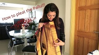 How to pleat a Saree with Vithya