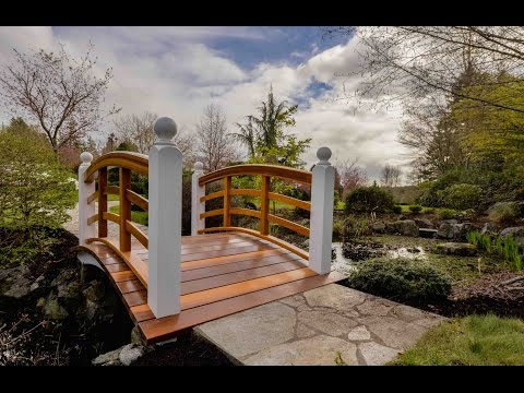 Arched Wood Bridge, Start to Finish Time Lapse