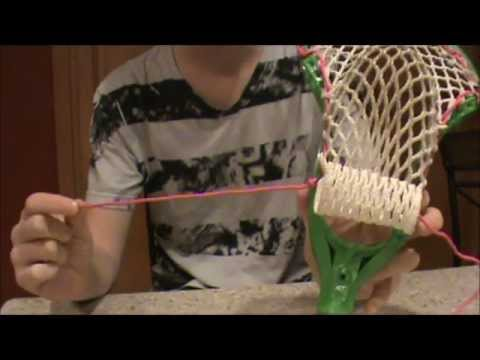 How To String a Lacrosse Stick (part 3 bottom string)