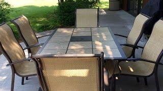 Mainstays Wesley Creek 7-piece tan outdoor patio dining set review