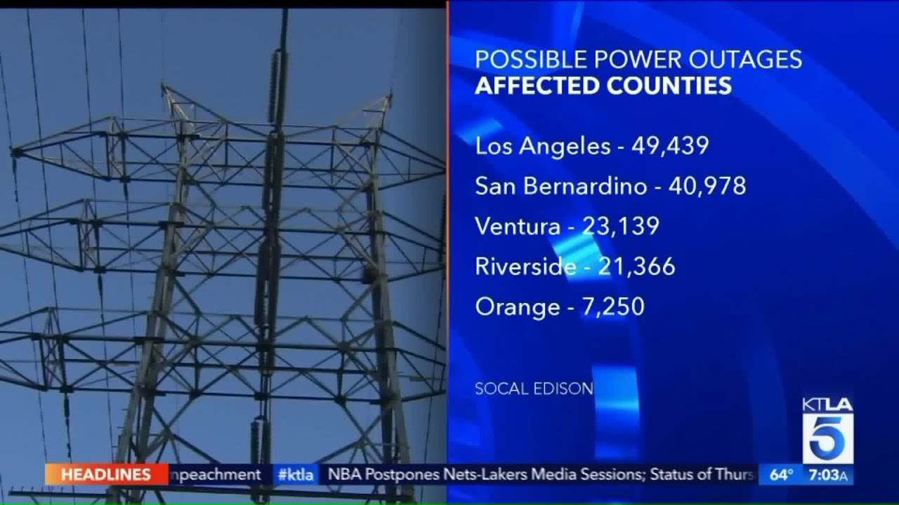 southern california edison power outages