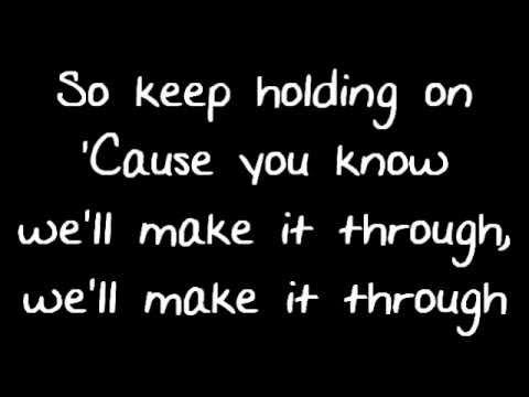 Avril Lavigne - Keep Holding On - Lyrics