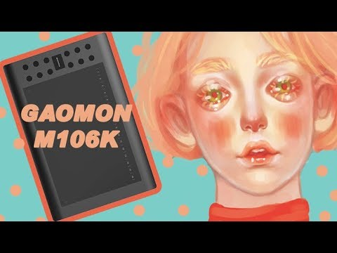 PHOTOSHOP SPEED PAINTING // GAOMON M106K affordable graphic tablet《SUB ITA》