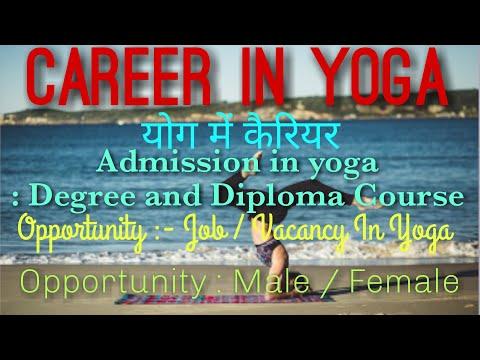 Career in yoga, admission in yoga, job in yoga