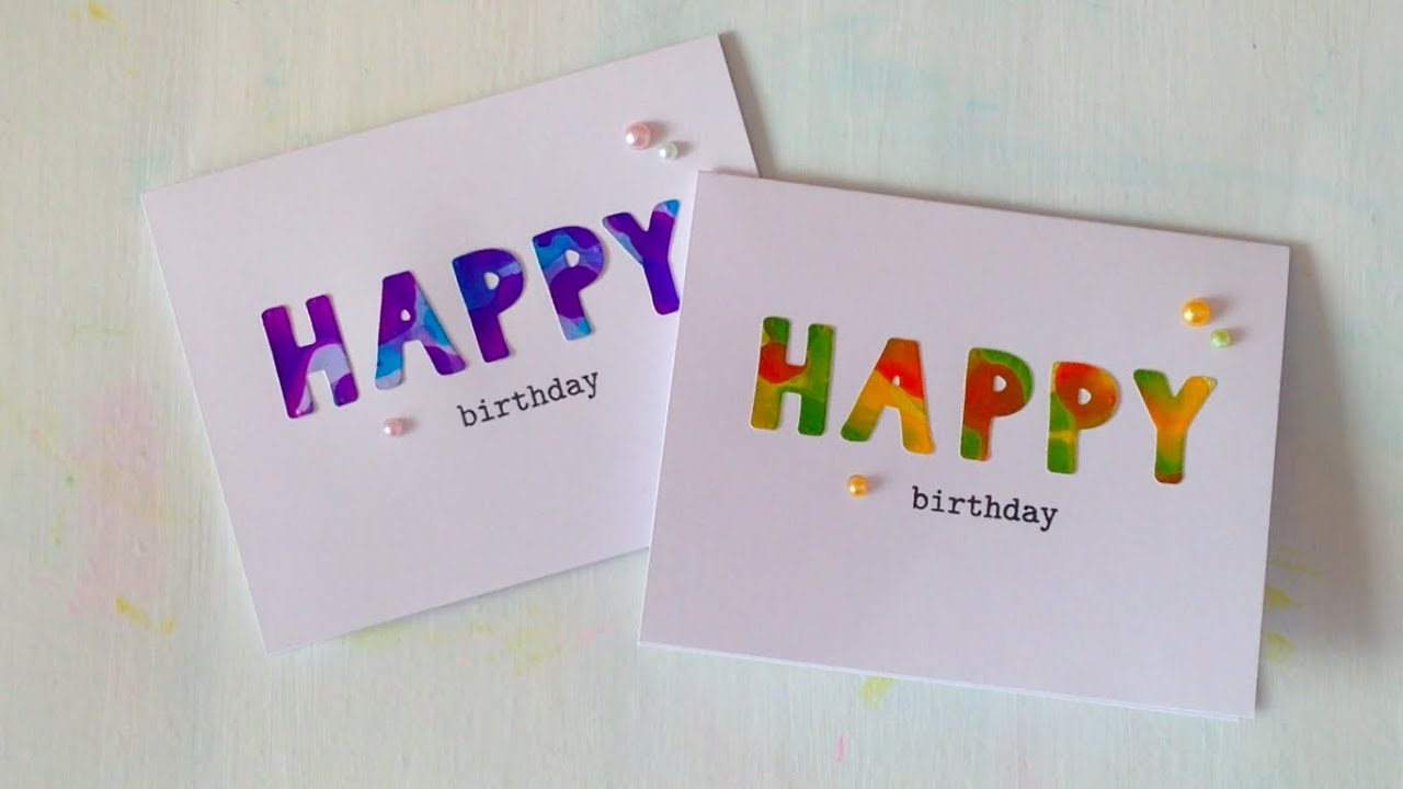 happy birthday cards with photo paper YouTube – Construction Paper Birthday Cards