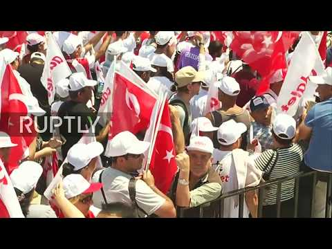 LIVE: Opposition supporters end 450km protest march with ral