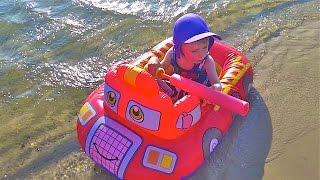 Надувная игрушка детская Пожарная машина лодка,Inflatable Children Fire Truck Boat toy,Oppbla?sbare