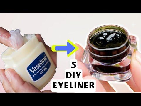 5 Homemade MAKEUP EYELINER | Easy MAKEUP EYELINER Recipe Ideas for DIY Cosmetics | EYELINER