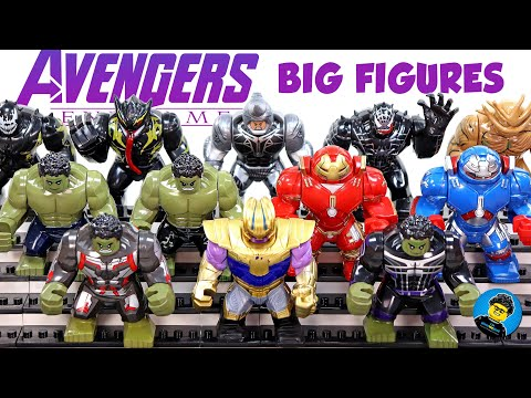 Avengers Endgame Thanos Hulk Quantum Suit Hulkbuster Guardians Of The Galaxy Unofficial LEGO BigFigs