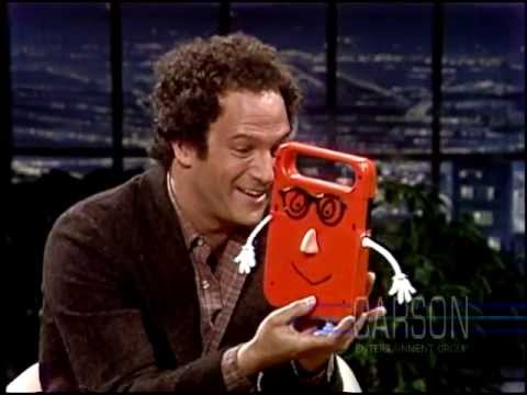 "Albert Brooks and his electronic friend ""Buddy"" on The Tonight Show Starring Johnny Carson"