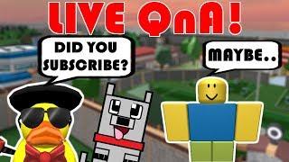 LIVE ROBLOX QnA CON FANS! Chiedi tutto quello che vuoi! 🔴Roblox Jailbreak LIVE