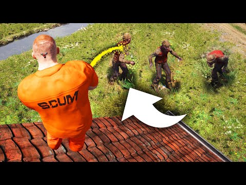 PISSING ON ZOMBIE HORDES! (Scum Funny Moments)