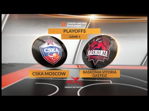 Highlights: CSKA Moscow-Baskonia Vitoria Gasteiz, Game 1