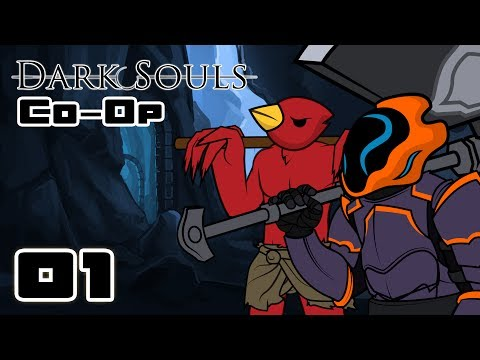 Let's Play Dark Souls Co-Op - Part 1 - We Are The Real Monsters