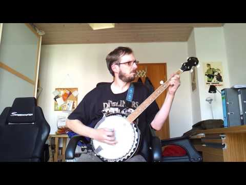 Pogues Banjo-Cover Dirty old Town 1st try - YouTube