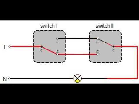 Two way switching diagram Two way switch - YouTube
