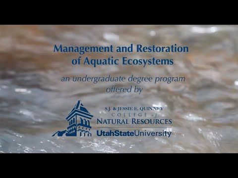 Management & Restoration of Aquatic Systems degree at Utah S