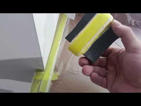 Как защитить окно перед покраской откосов