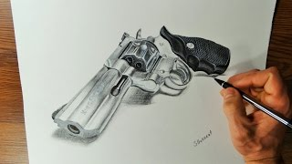 Time Lapse Drawing Video. How I Draw a Gun