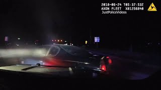 Florida Police Chase Ends In PIT Dashcam and Helicopter View