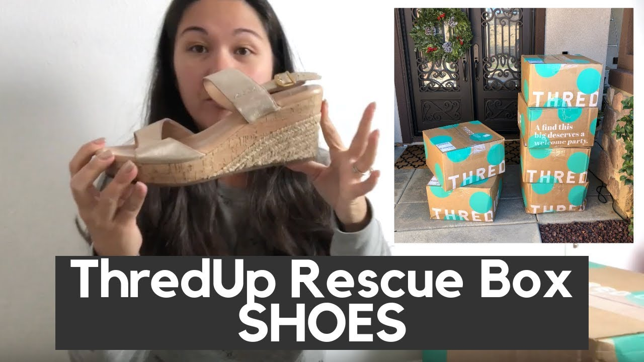 160769a3b5b ThredUp Rescue Box Shoes Haul Unboxing and Review - YouTube