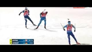 Казахстан - Бронза биатлон Кубок мира 2017-18 I этап смешанная эстафета Г.Вишневская и М.Браун