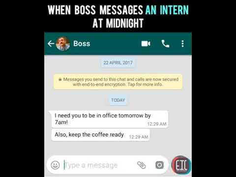 Boss And Employee Chat Midnight...😆😆