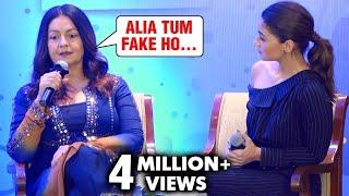 Pooja Bhatt Calls Alia Bhatt And Bollywood Stars Fake | Shaheen Bhatt Book Launch