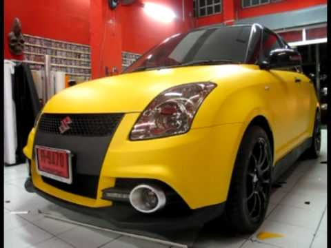 AUTOCAR Wrap Suzuki Swift Matte Yellow
