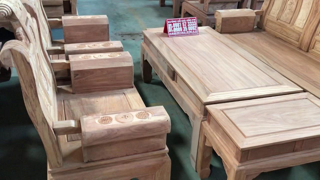 Bộ bàn Ghế ÂU Á Hộp Đoản dài 2m40 giá chỉ 18tr mộc gỗ gõ đỏ(Xưởng Gỗ Giá Gốc)
