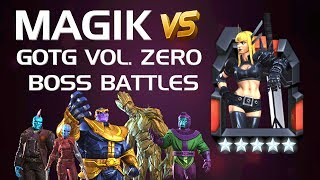 Magik vs. GotG Vol. Zero Boss Battles (Master Difficulty) | Marvel Contest of Champions