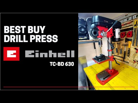 Einhell TC-BD 630 drill press UNBOXING, ASSEMBLY, TUNE UP, REVIEW