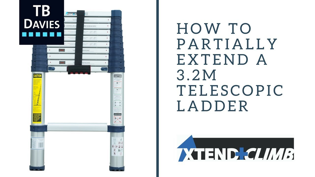 How to partially open a 3 2m Xtend+Climb Telescopic Ladder